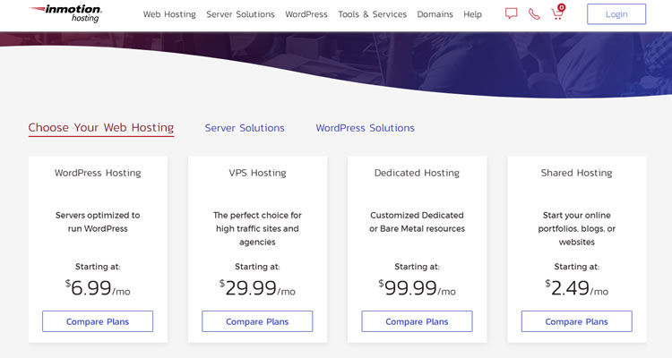 InMotion offers different hosting plans to their users.