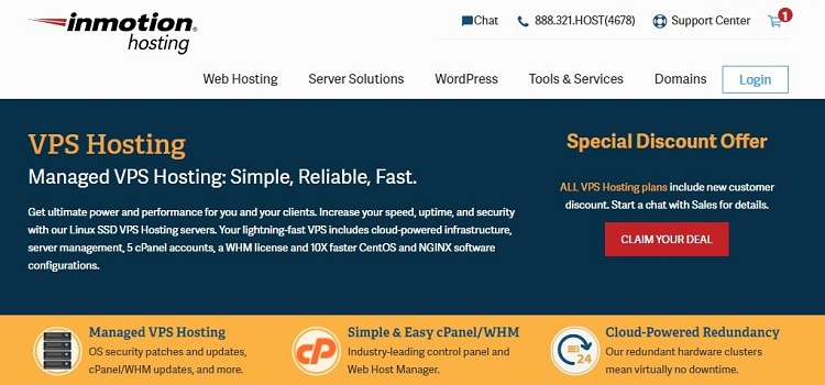 InMotion Hosting - VPS