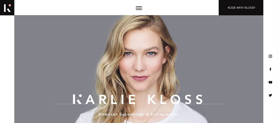 Personal website built with Wix - Karlie Kloss