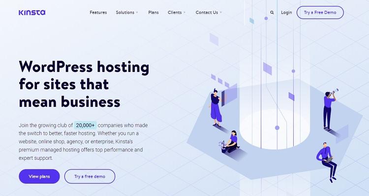 Kinsta cloud hosting services