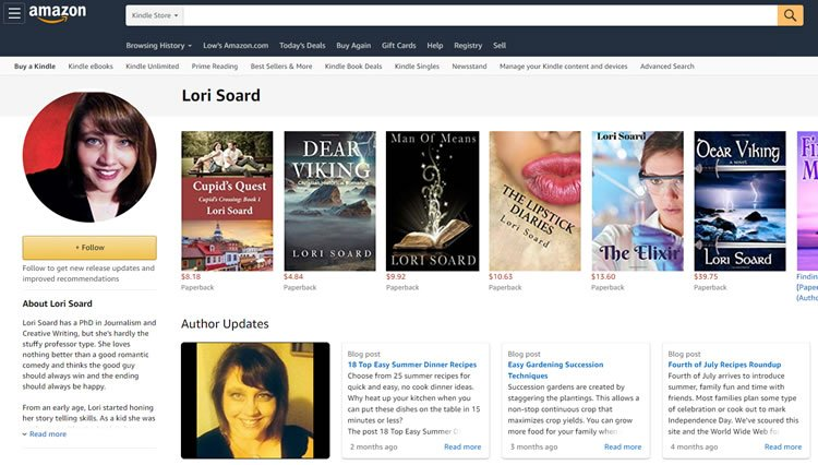 Lori Soard Author Page at Amazon