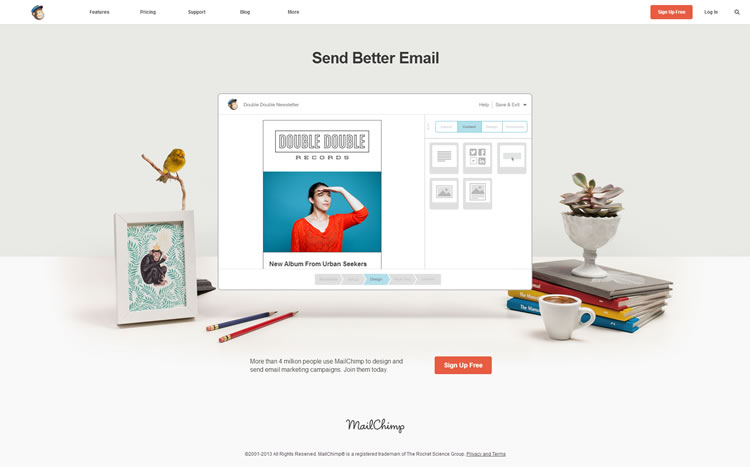 Mailchimp email marketing software - click here to try for free