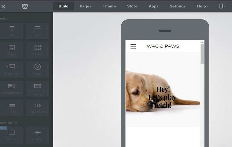 Build and preview your Weebly website on mobile