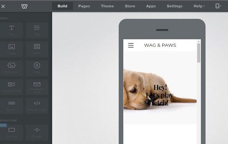 بناء ومعاينة موقع Weebly الخاص بك على الهاتف المحمول