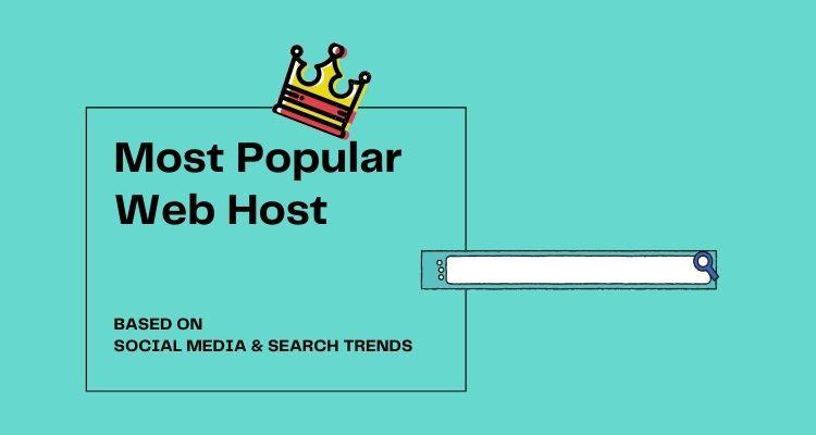 Most popular web hosting services