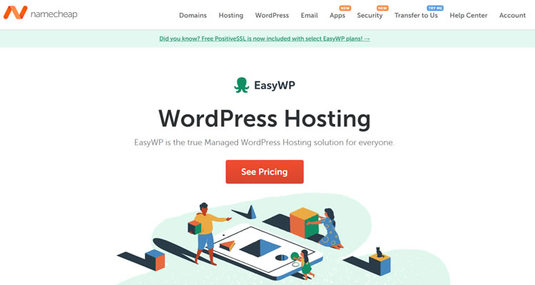 NameCheap - Great choice for those looking for cheap WordPress Hosting
