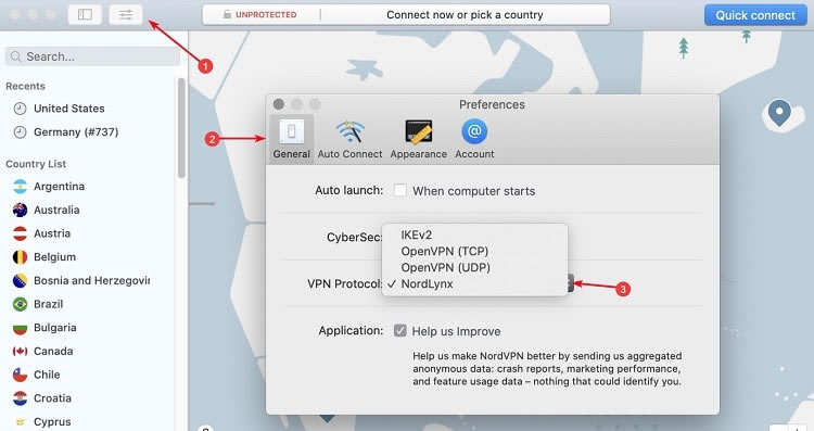 Menggunakan NordLynx di MacOS