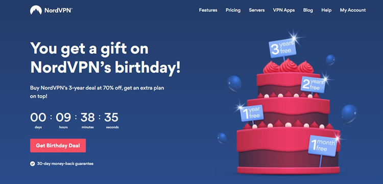 Updates - NordVPN Special Birthday Sales