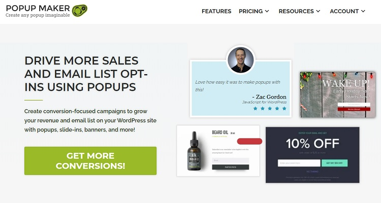 Popup Maker - WordPress Popup plugin that is in use on over 600,000 sites at last count.