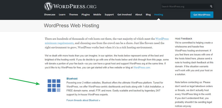 BlueHost - Recommended WordPress Hosting
