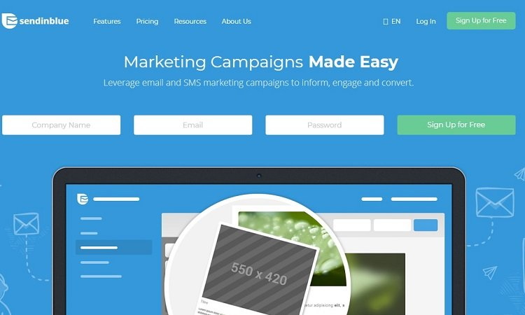 SendinBlue email marketing software - click here to try for free