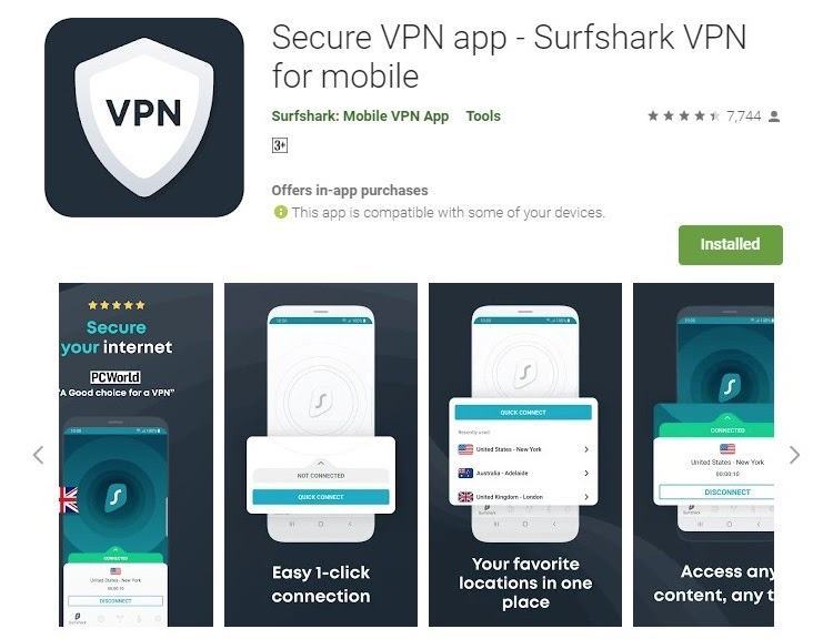 setting up VPN on android