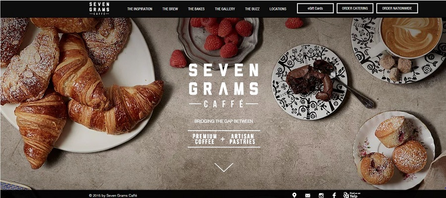 Wix website example - Seven Grams Caffé