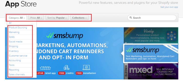 Shopifyアプリ市場