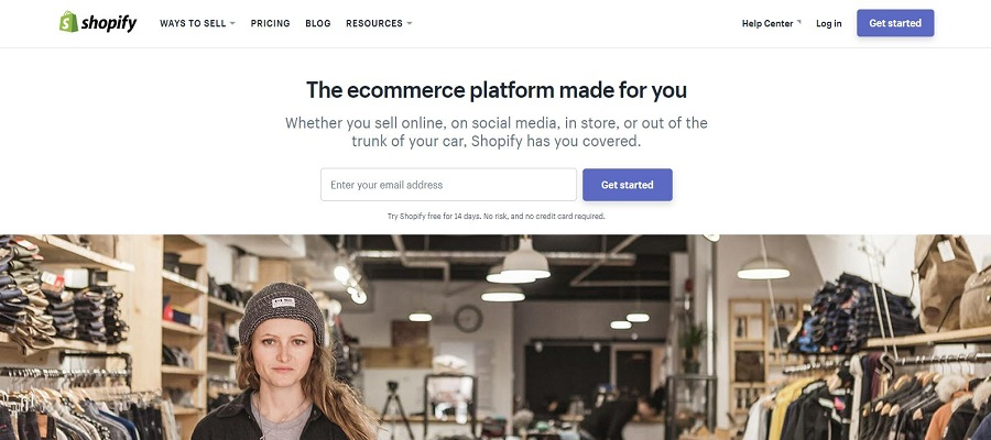 Create your online store using Shopify