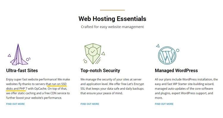 hosting ssd siteground