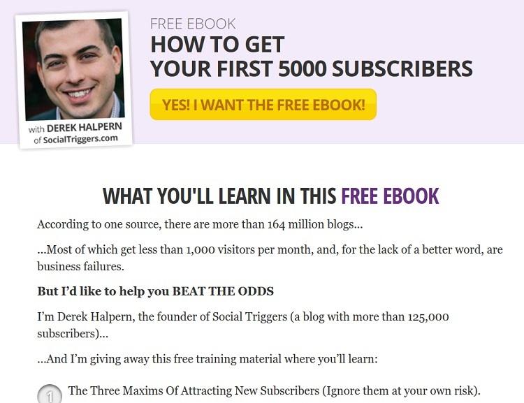 Убедительная целевая страница для бесплатной книги из социальных триггеров.