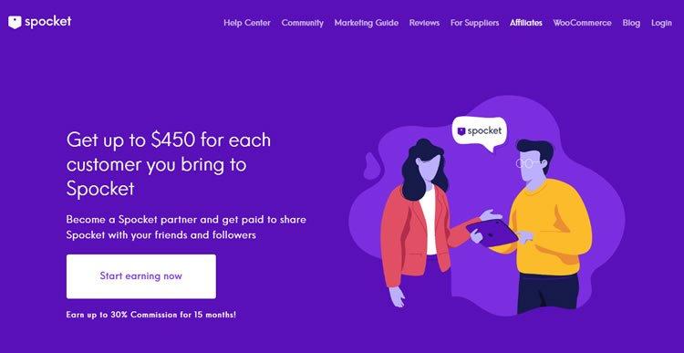 Spocket Homepage