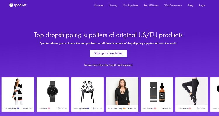 Spocket - Dropshipping Lieferant USA