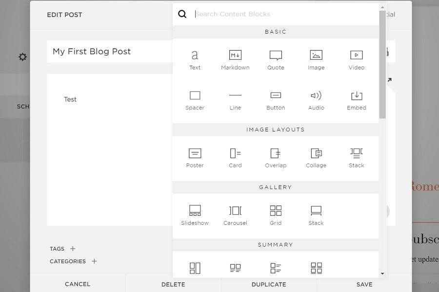editor squarespace