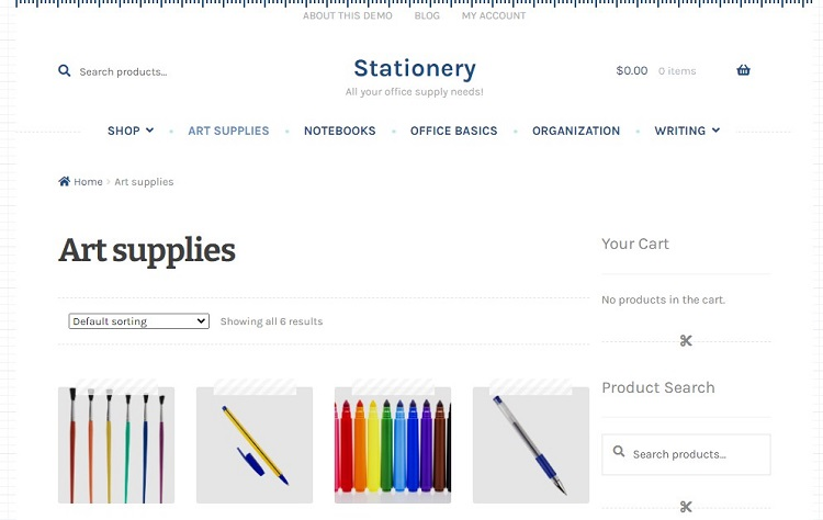 Stationaery - WooCommerce Templates