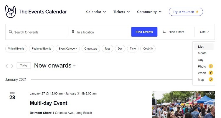 The Events Calendar - one of the most popular event plugins for WordPress.