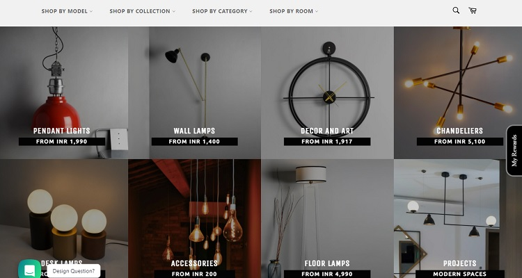 """Shopify Example#2 – The Black Steel. This Shopify store uses """"Boundless"""", a free theme that works great for product showcase."""