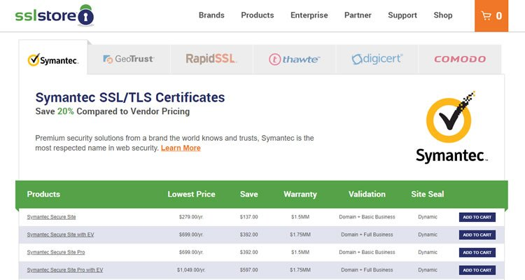 Compre un certificado SSL en The SSL Store