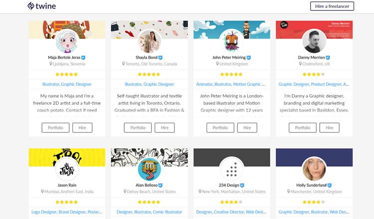 Twine- platform for freelancers