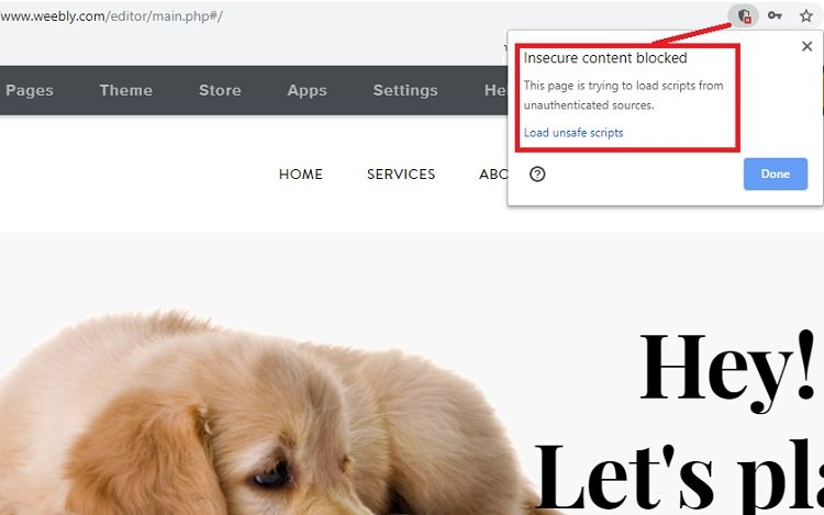 Editing your first website at Weebly