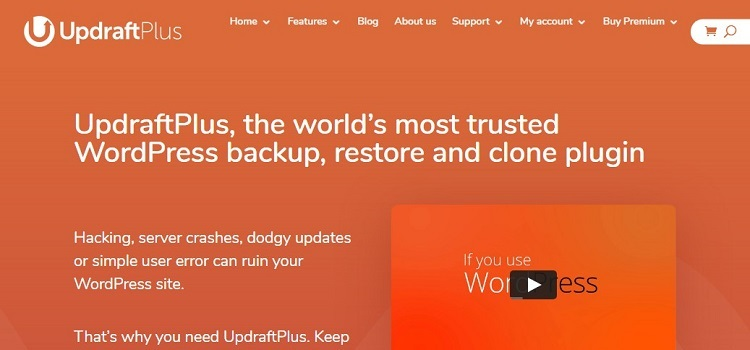 WordPress backup plugin - UpdraftPlus