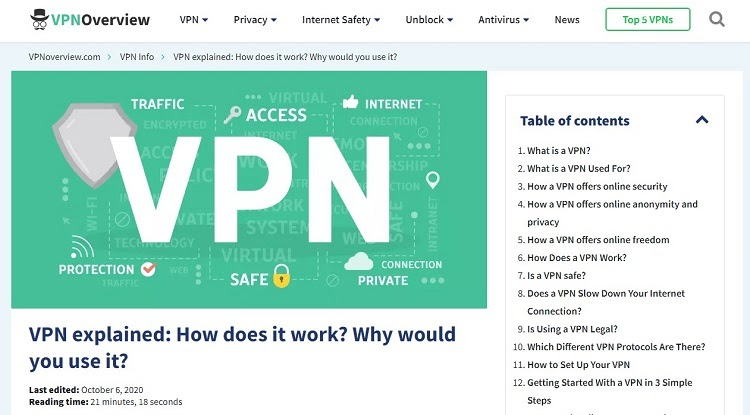 David Janssen of VPN Overview