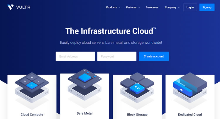 Vultr  cloud hosting services