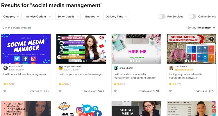 Example - Fiverr is a popular marketplace where freelancer offers their service to potential hirers.