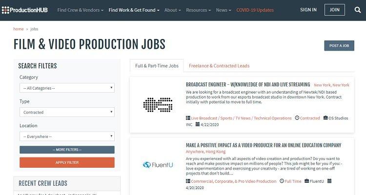 Работа в кино- и видеопроизводстве - высокооплачиваемая работа на дому
