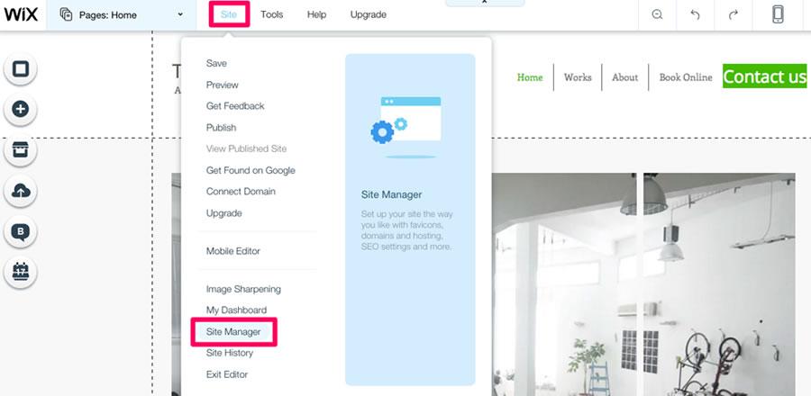 Di bawah pengaturan 'Site Manager', Anda memiliki sejumlah opsi untuk SEO situs Anda, sosial, analitik, dan lainnya. Kami akan membahas masing-masing opsi ini.