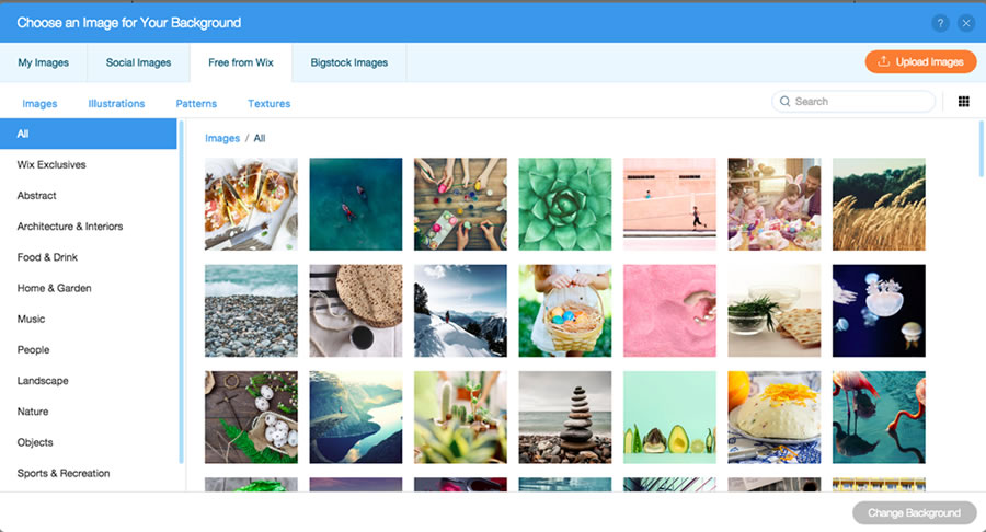 A free image library from Wix.