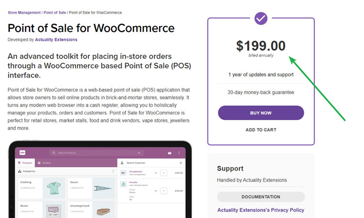 WooCommerce PoS - $199