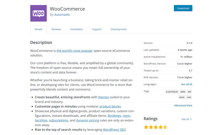 WooCommerce from WordPress Plugin Directory