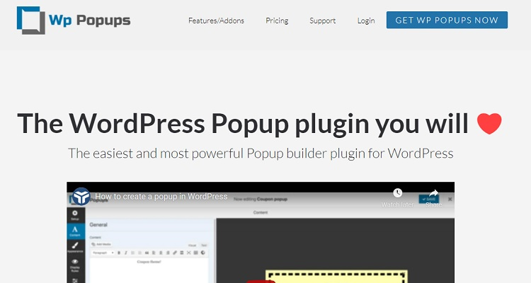 WP Popups - WordPress popup plugin for real newbies