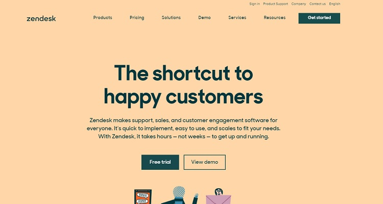 Zendesk - an example of Saas platform for customer support