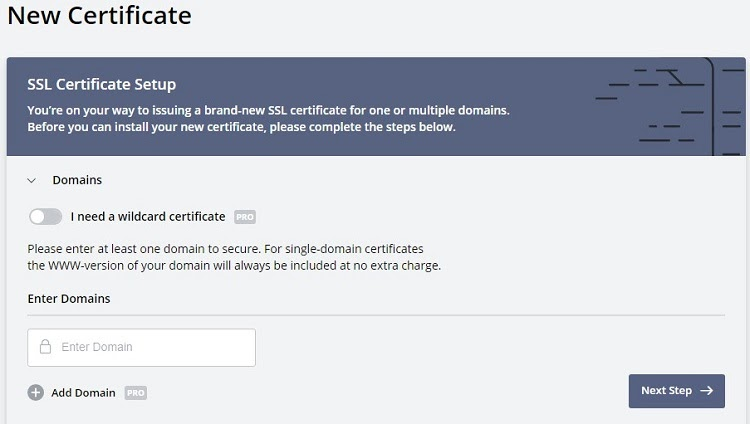 ZeroSSL - SSL Certificate Creation