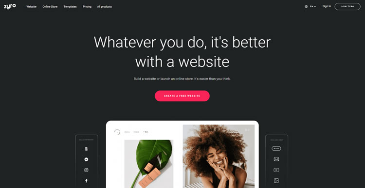 Costruttore di siti Web Zyro di Hostinger